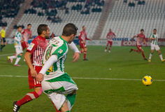 Borja García from match league Cordoba vs Girona Royalty Free Stock Image