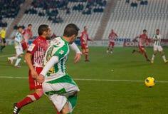 Borja García from match league Cordoba vs Girona Royalty Free Stock Image