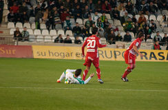 Borja García from match league Cordoba vs Girona Stock Images