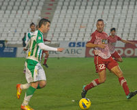 Borja García from match league Cordoba vs Girona Stock Photo