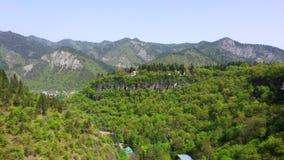 Borjomi Georgia Vista aerea della citt? di Borjomi video d archivio