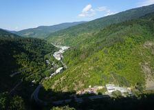 Borjomi landskapsikt royaltyfria bilder