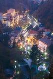 Borjomi Samtskhe-Javakheti, Georgia Borjomi för flyg- sikt Cityscape royaltyfri bild