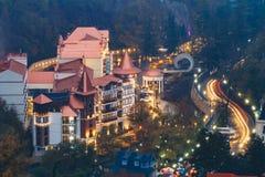 Borjomi Samtskhe-Javakheti, Georgia Borjomi för flyg- sikt hotell royaltyfria foton