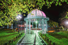 Borjomi, Samtskhe-Javakheti, Georgia. Pavilion Above Hot Spring royalty free stock photography