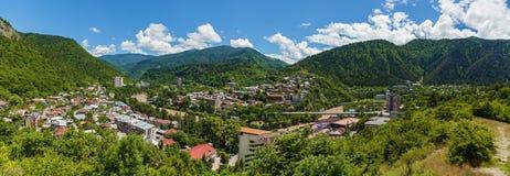 Borjomi stad Georgia arkivfoto