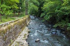 Borjomula River in Borjomi Stock Photo
