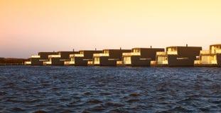 Bork harbour in Denmark Royalty Free Stock Image