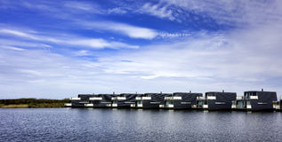 Bork harbour in Denmark Royalty Free Stock Image