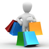 Borko Einkaufen lizenzfreie abbildung