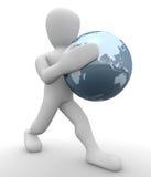 Borko mit der Welt lizenzfreie abbildung