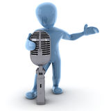 Borko singing. Borko 3d image giving a show Stock Photo
