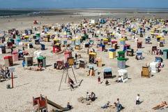 Пляж Borkum северный, Германия Стоковое Фото