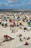 Пляж Borkum северный, Германия Стоковая Фотография