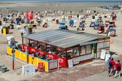 Пляж Borkum северный, Германия Стоковое Изображение RF