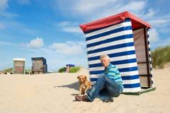 Borkum beach stock photo