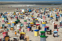 Borkum North Beach, Germany Royalty Free Stock Photo