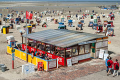 Borkum North Beach, Germany Royalty Free Stock Image