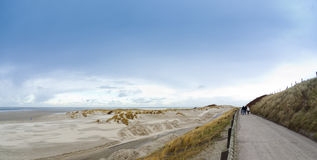 Borkum north beach in winter Royalty Free Stock Photo