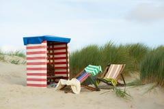 Borkum plaża Zdjęcia Royalty Free