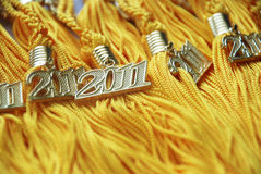 Borlas 2011 de la graduación Fotografía de archivo
