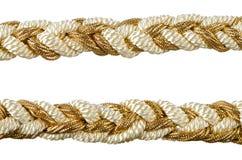 Borlas de oro de la cortina de la cuerda Fotografía de archivo