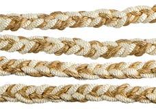 Borlas douradas da cortina da corda Fotos de Stock