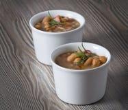 Borlotti bean and spelt soup. Stock Image