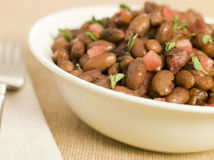 Borlotti Beans Braised in Red Wine Stock Images