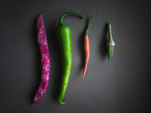 Borlotti, Pepper, Chilli and Okra Royalty Free Stock Image