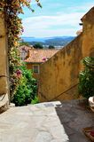 Bormes le Mimosas at the mediterranean sea, cote azur, France Stock Image