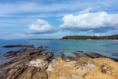 Bormes les Mimosas coast Royalty Free Stock Photography