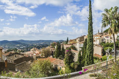 Bormes les mimosas. Is a flowery village Stock Image