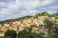 Bormes les mimosas. Is a flowery village Stock Photo
