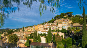 Bormes-les-Mimosas in France Stock Image