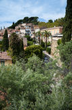 Bormes les Mimosas - Town view with Mimosas trees Royalty Free Stock Photography