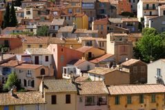 Bormes les mimosas village. Roofs of house of a village Royalty Free Stock Image