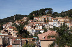 Bormes les mimosas village Stock Photo