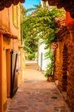 Bormes lesmimosor, Provence, Frankrike arkivbild