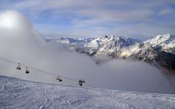 bormio滑雪 免版税库存图片