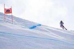 Bormio freeride narciarstwa puchar świata 12/28/2017 Obraz Royalty Free