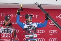 Bormio freeride narciarstwa puchar świata 12/28/2017 Obrazy Royalty Free