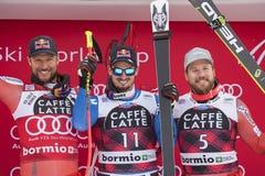 Bormio freeride narciarstwa puchar świata 12/28/2017 Fotografia Stock