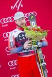 28 December 2017 - Bormio Italy - Audi FIS Ski World Cup. Bormio Italy 12/28/2017: pictures of the freeride ski world championship. The winner was the Italian Royalty Free Stock Photography