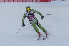 28 December 2017 - Bormio Italy - Audi FIS Ski World Cup. Bormio Italy 12/28/2017: pictures of the freeride ski world championship. The winner was the Italian Royalty Free Stock Image