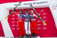 28 December 2017 - Bormio Italy - Audi FIS Ski World Cup Stock Images