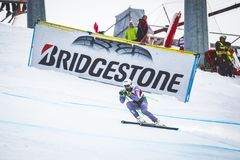 28 December 2017 - Bormio Italy - Audi FIS Ski World Cup. Bormio Italy 12/28/2017: pictures of the freeride ski world championship. The winner was the Italian Royalty Free Stock Images