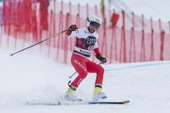 28 December 2017 - Bormio Italy - Audi FIS Ski World Cup. Bormio Italy 12/28/2017: pictures of the freeride ski world championship. The winner was the Italian Royalty Free Stock Photo