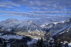Bormio ski royalty free stock photos