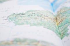 Bornéu, close-up do mapa Fotos de Stock